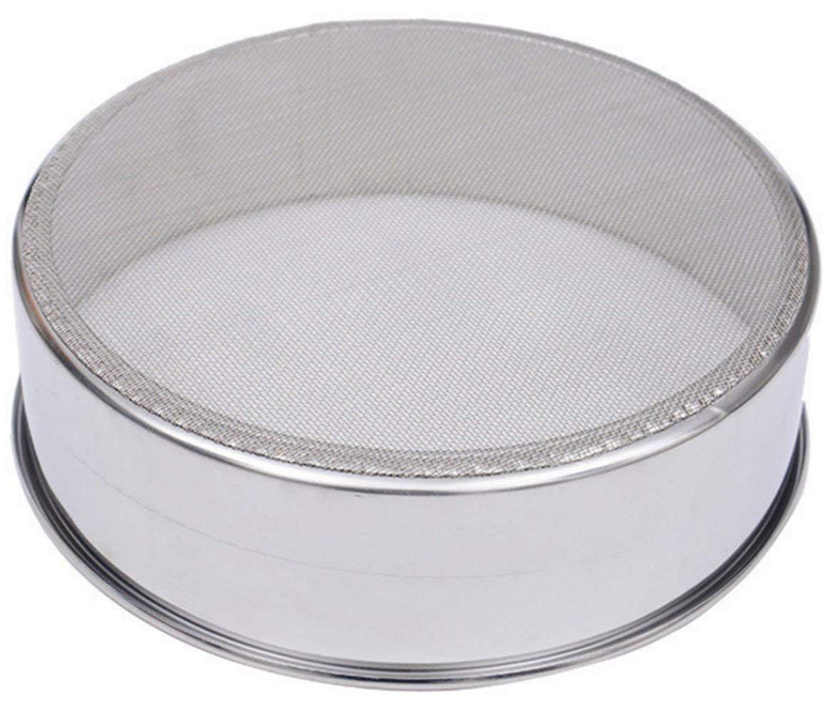 VANLAN 6 Inch, 18/8 60 Mesh Sieve Mesh Flour Sifter Professional Round Stainless Steel Flour Sieve