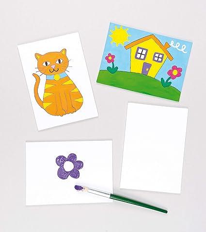 Confezione da 10 pannelli di tela per dipingere i bambini Dorakitten
