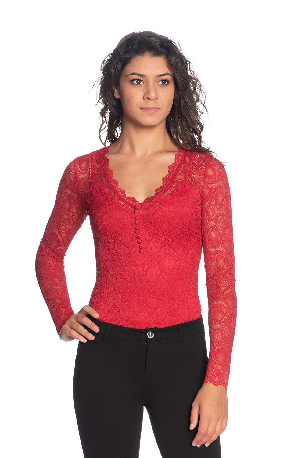 Guess Body in Pizzo M//Lunga Scollo A V Art W93P73R7EY0