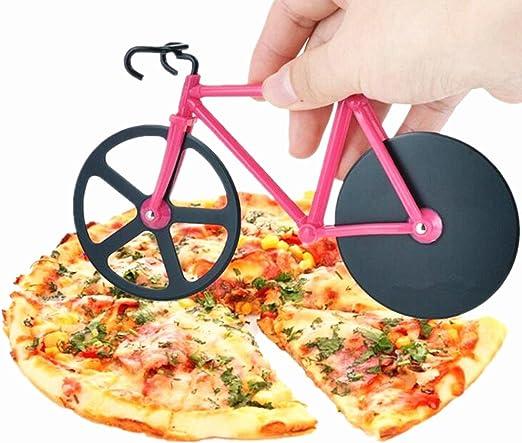 Compra Yocome Novelty Cortapizzas Bici Pizza Cutter Cuchillas ...