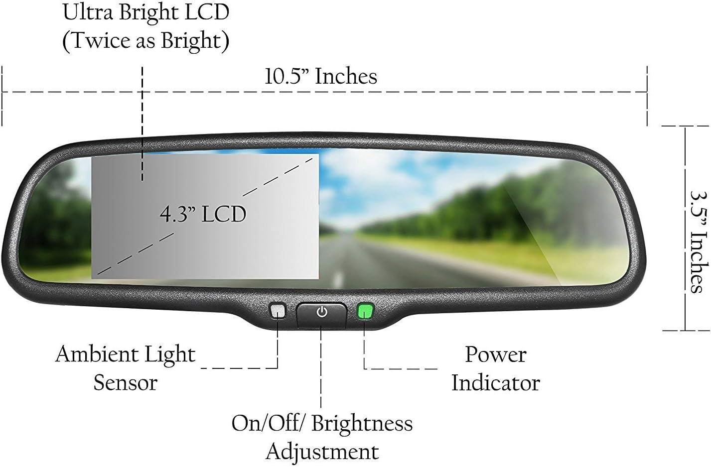 KIMISS 18,5 mm HD Auto R/ückfahrkamera Low Light Nacht Version Bunte Display NTSC//Pal