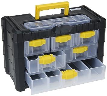 Generic portátil de uñas tuercas de tornillo tornillos de caja de almacenaje organizador botón de caja