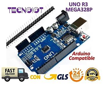 TECNOIOT UNO R3 REV3 ATmega328 16U2 CH340: Amazon.es ...