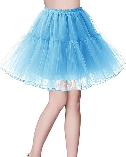 Bridesmay Enaguas Años 50 Vintage para Vestidos Faldas Cortas De ...