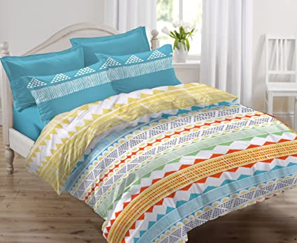 47fe634375e Ahmedabad Cotton 144 TC Cotton Double Bedsheet with 2 Pillow Covers ...
