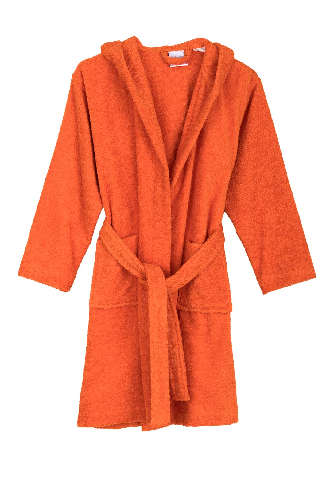 TowelSelections Big Boys' Robe, Kids Hooded Cotton Terry Bathrobe Cover-up Size 10 Carrot