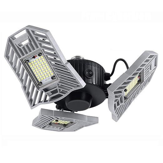 Amazon.com: Lámpara LED de garaje, 60 W E26/E27 6000 lm ...
