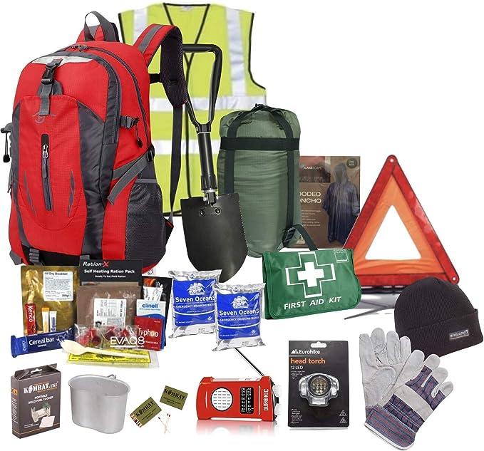 Kit de supervivencia para emergencias de coche en invierno: Amazon.es: Coche y moto