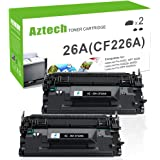 Aztech 2 Pack Replaces 26A CF226A MFP M426fdw Black Toner Cartridge 3,100 Pages Yield For LaserJet Pro M402dn M402n M402d M402dw , LaserJet Pro MFP M426dw M426fdw M426fdn , M402 M426 Series Printer