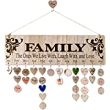 Best Gifts for Moms Grandmas from Daughter or Son | Wooden Family Birthday Reminder Calendar Board Wall Hanging |Tracker…