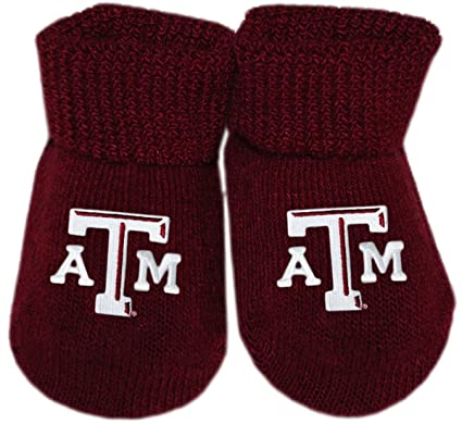 finest selection 704ea 9c9a3 Creative Knitwear Texas A M Aggies Newborn Baby Bootie Sock