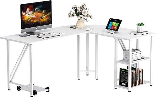 Bizzoelife 59″x55″ Large L Shaped Corner Table Computer Desk