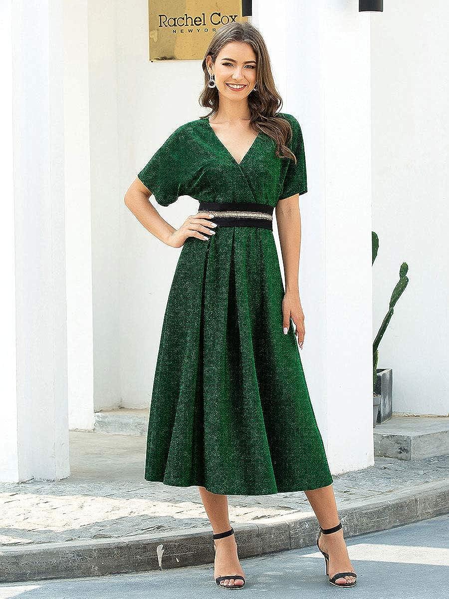 Every Pretty Abiti Sera e Cerimonia Maniche Corte Linea ad A Stile Impero Maxi Donna 00729