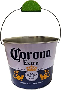 The Tin Box Company Corona Beverage Bucket with Wire Handle and Lime Grip