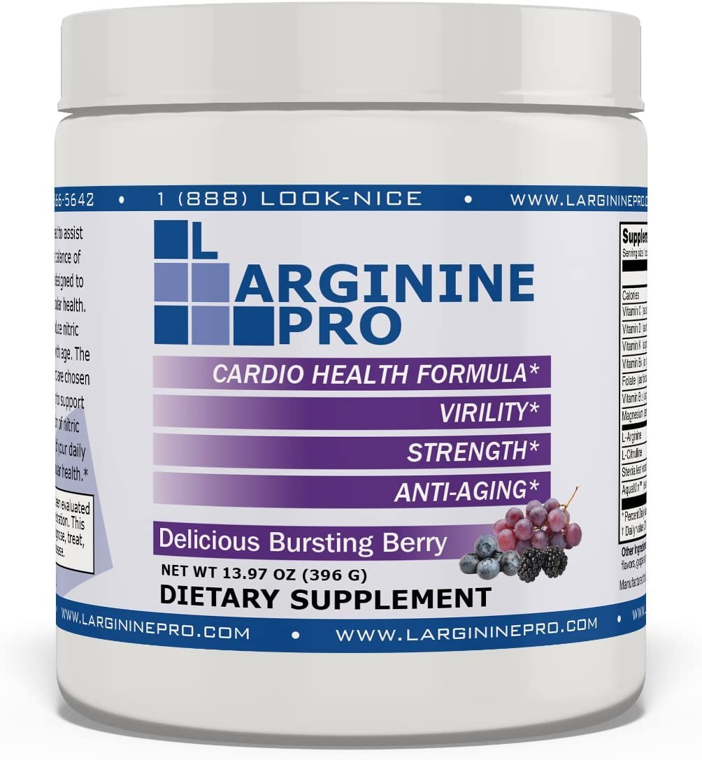L-arginine Pro, L-arginine Supplement – 5,500mg of L-arginine Plus 1,100mg L-Citrulline Berry, 1 Jar
