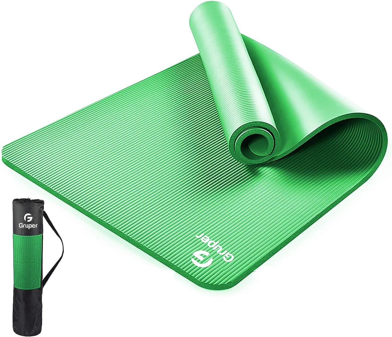Gruper Thick Yoga Mat Non Slip, Large Size 72