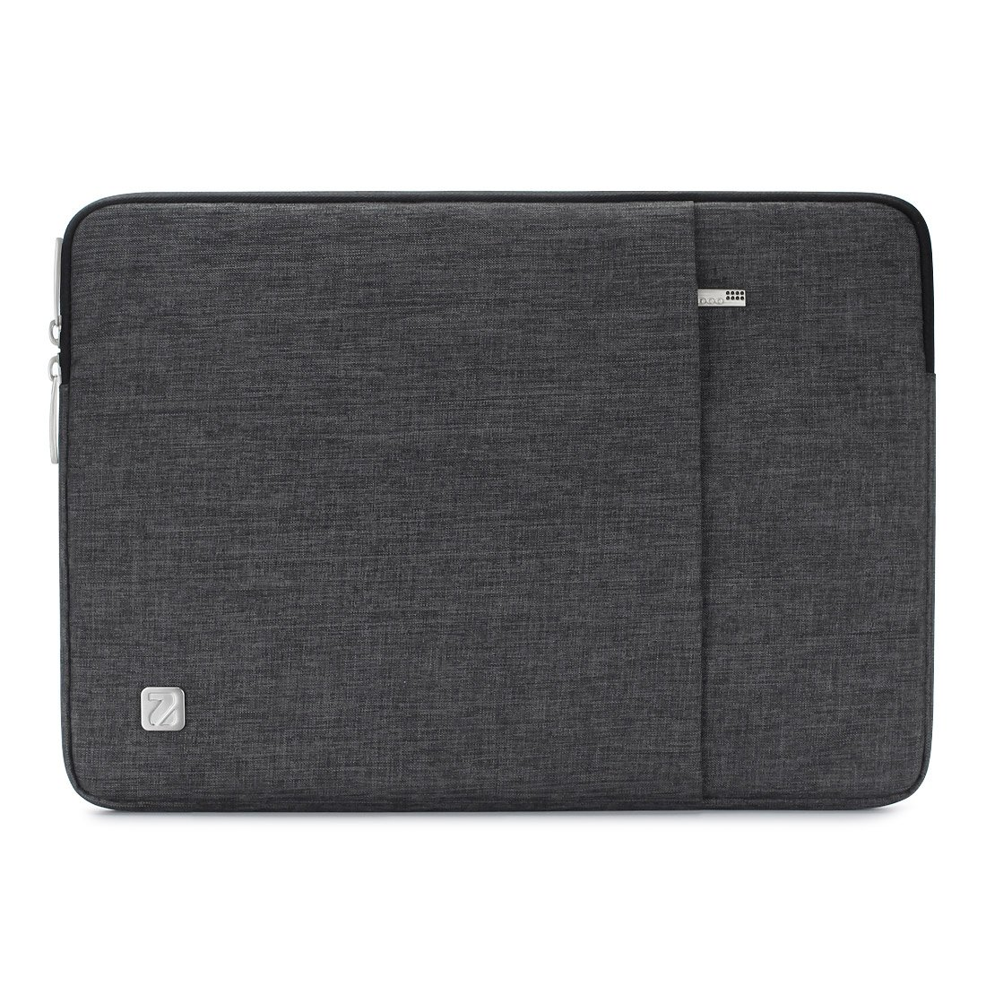 """NIDOO 13.3 Inch Laptop Sleeve Case Water Resistant Protective Cover Portable Carrying Bag for 13"""" MacBook Pro/MacBook Air / 13.3"""" Dell Inspiron 13/13.3"""" Notebooks, Dark Grey"""