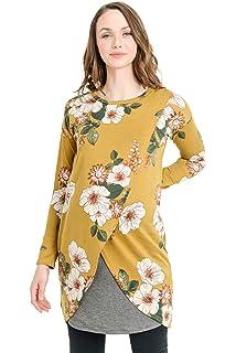 175da16c19e7b Hello MIZ Women's Sweater Knit Long Sleeve Maternity Nursing Tunic Dress