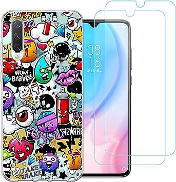 jrester Funda para Xiaomi Mi A3 / CC9e, Animal 438 Transparente Silicona Smartphone Cascara Protectora para Xiaomi Mi A3 / CC9e con Dos Pelicula Protectora Vidrio Templado: Amazon.es: Electrónica