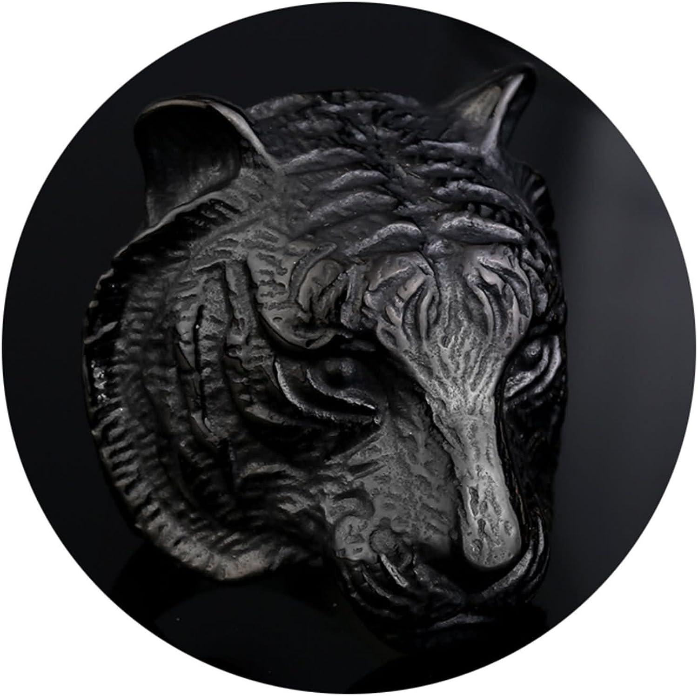 Daesar Bague Homme Gothique Bague de Fian/çailles Inoxydable Bague Tigre Argent//Or//Noir Bague Homme Taille 54-69