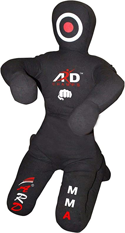 Brazilian Jiu Jitsu Grappling Canvas Kneeling Dummy MMA Boxing Wrestling Black