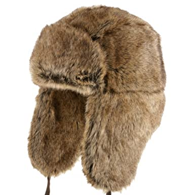 Ultrafino Huskie Ushanka Soft Faux Fur Trapper Winter Hat Ear flaps Men and  Women BROWN 7 7f8977a67066