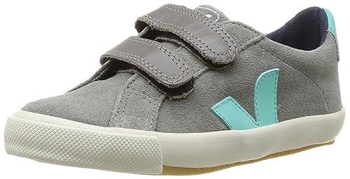 Veja Esplar Velcro Suede - Zapatillas de deporte de terciopelo para niño gris Gris (Grey Chlorophyll) 28: Amazon.es: Zapatos y complementos
