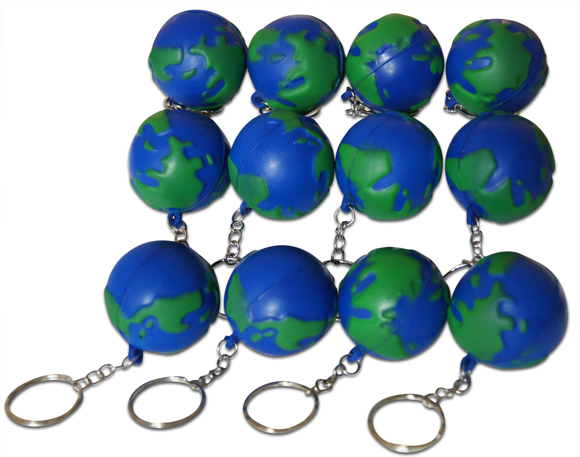 Novel Merk Earth Day World 12-Piece Keychains for Party Favors & School Carnival Prizes