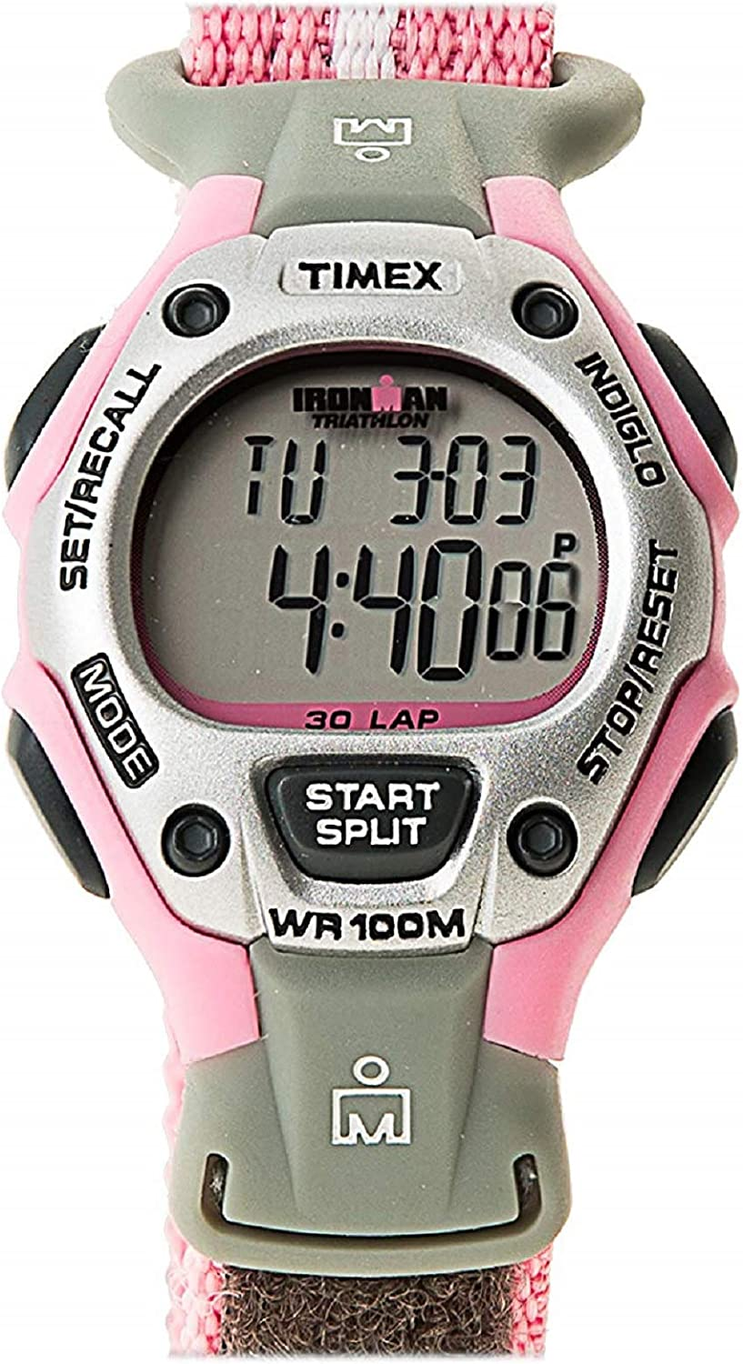 Timex Women's T5H471 Ironman Traditional 30-Lap Pink Fast Wrap Strap Watch