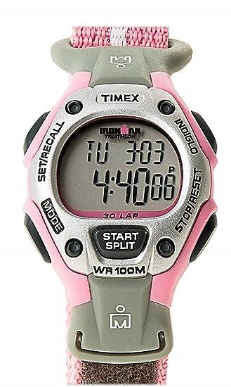 Ironman T5H4714E - Reloj digital de cuarzo para mujer con correa de nylon, color gris: Timex: Amazon.es: Relojes