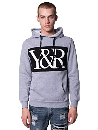 12ac4c91 Amazon.com: Young and Reckless - Hybrid Pullover Hoodie - Heather Grey - XL  - Mens - Tops - Hoodies - Heather: Clothing