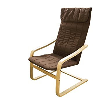 SoBuy® Comfortable Relax Chair Lounge Chair, Bentwood Chair With  Poly Cotton Cushion,