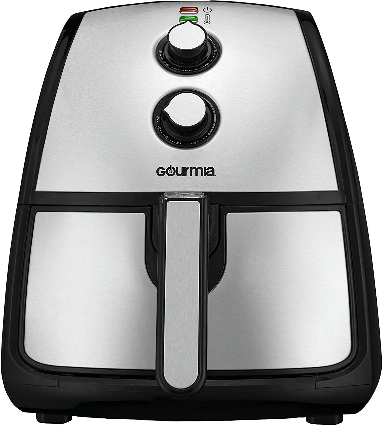 Gourmia GAF560 5 Quart Air Fryer – Oil Free Healthy Cooking – Adjustable Time and Temperature Dials – Removable Dishwasher-Safe Crisper Tray – Free Recipe Book Included