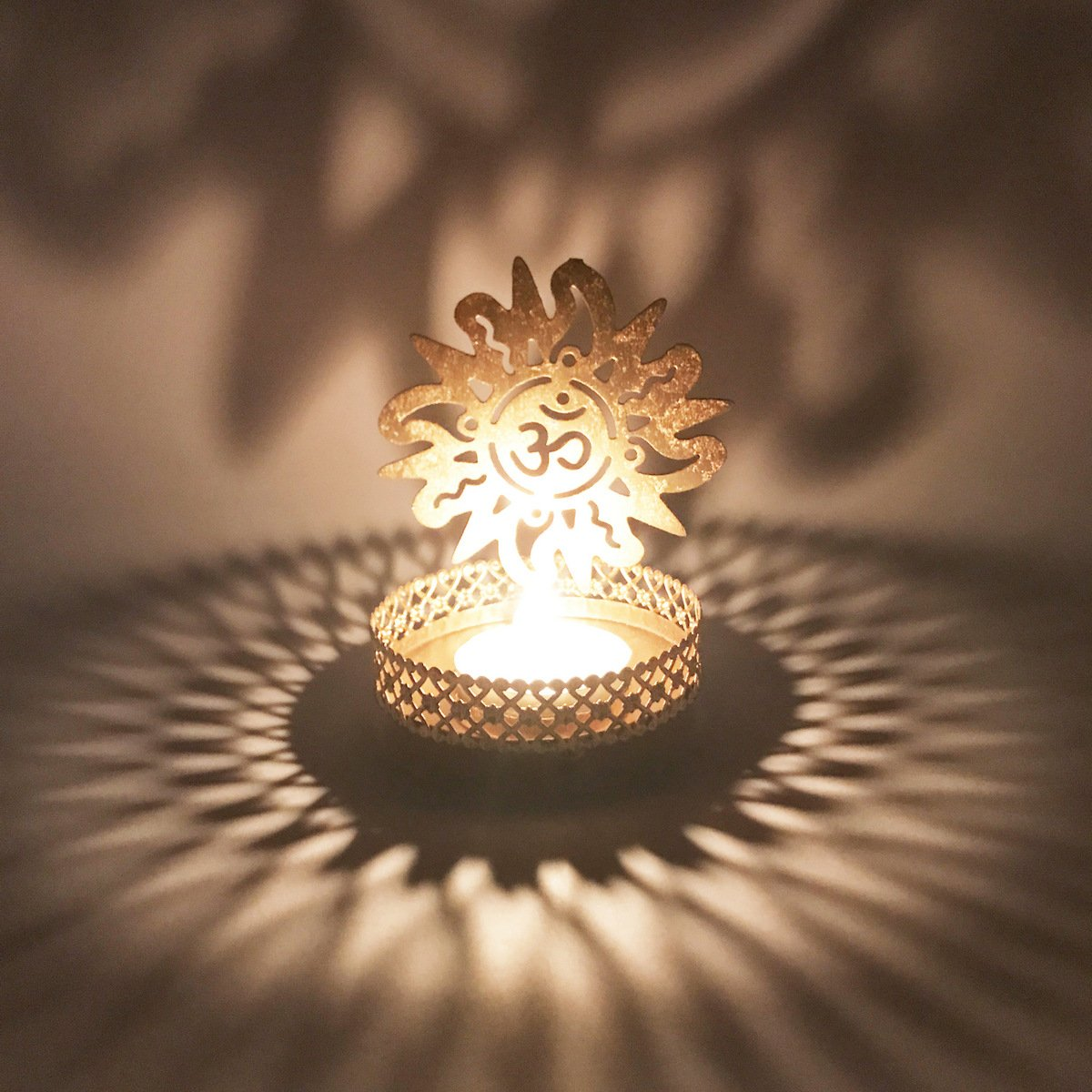Divine™ Sun Shadow Lamps tealight candle holder dhoop holder stand for Pooja and Decorative Showpiece Gifts Set DivineTM