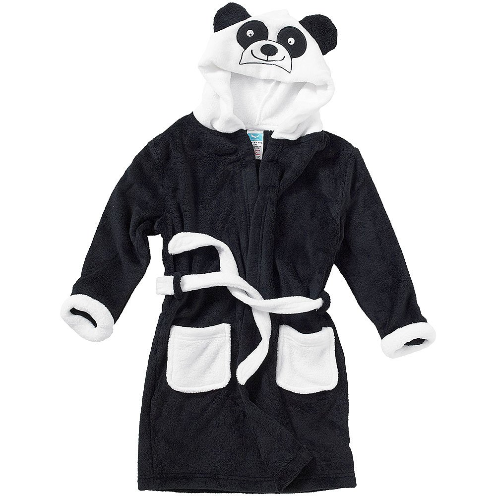 Animal Crazy Childs Boys Girls Panda Bath Robe Dressing Gown Supersoft Fleece