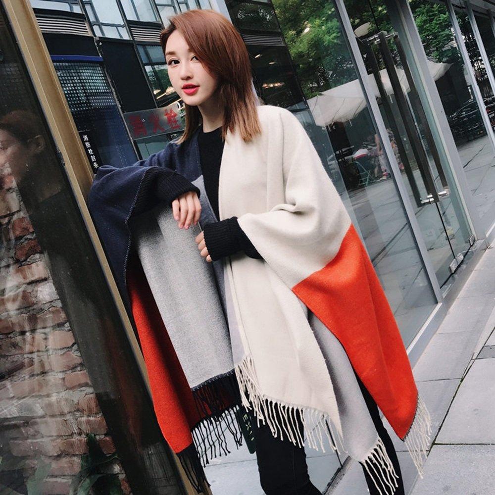 HAIZHEN alla moda alla moda Sciarpa invernale invernale invernale di puro colore invernale caldo spessore studenti multicolore donne opzionali Morbido e caldo ( Colore : D )
