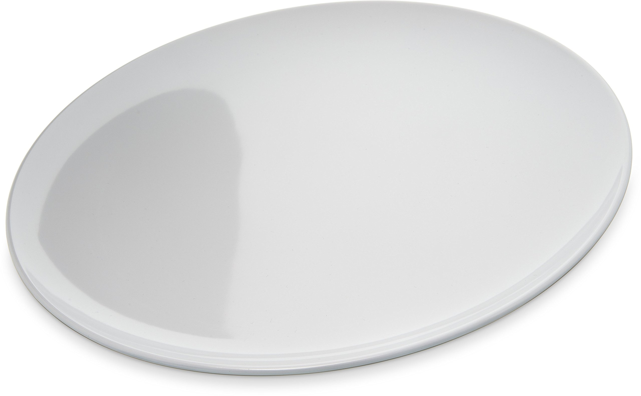 Carlisle 4380002 Epicure Melamine Buffet / Pizza Plate, 12'', White (Set of 12) by Carlisle