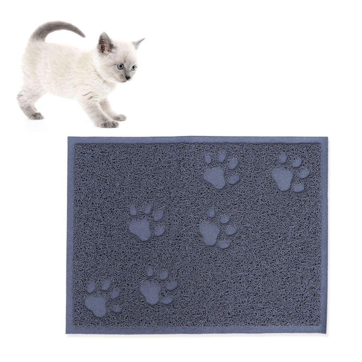POPETPOP Estera de Arena para Gatos Impermeable de PVC Alfombra de Basura Rascadores Antideslizante Alfombra para Gato 30 x 40 cm Gris: Amazon.es: Productos ...