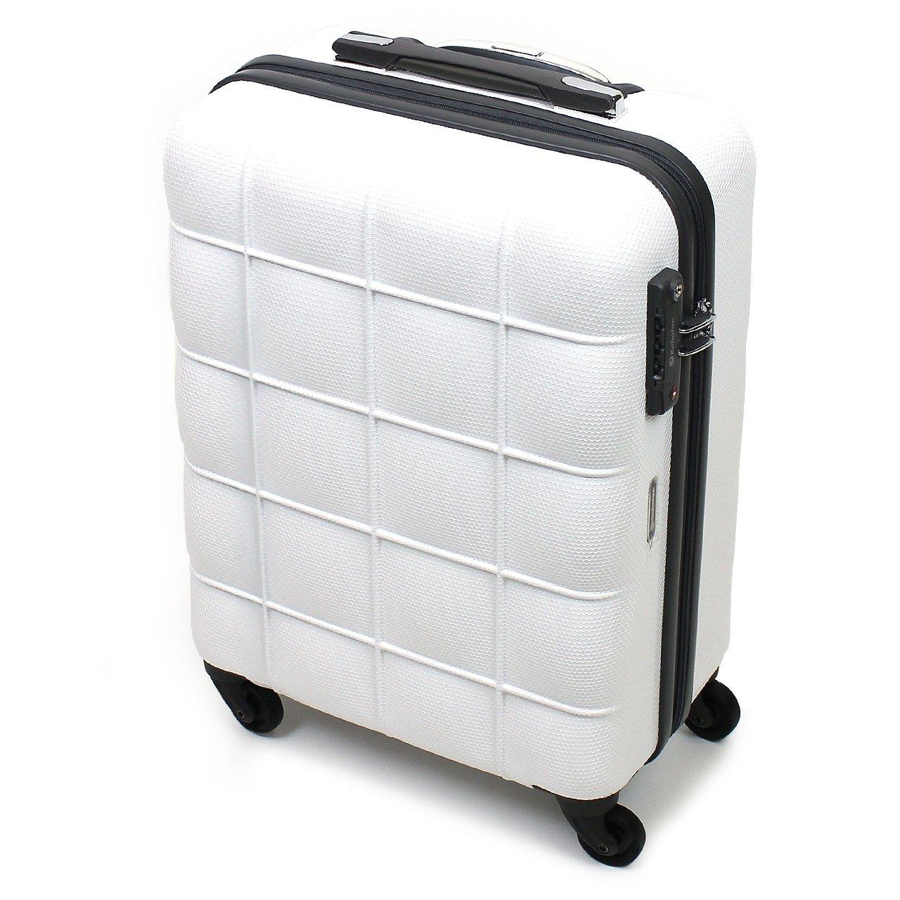 [Echolac(エコーラック)] スーツケース スクエア 38L 48.5cm 3kg PC005-20  ホワイト B07FH857F5