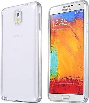 REY Funda Carcasa Gel Transparente para Samsung Galaxy Note 3 ...