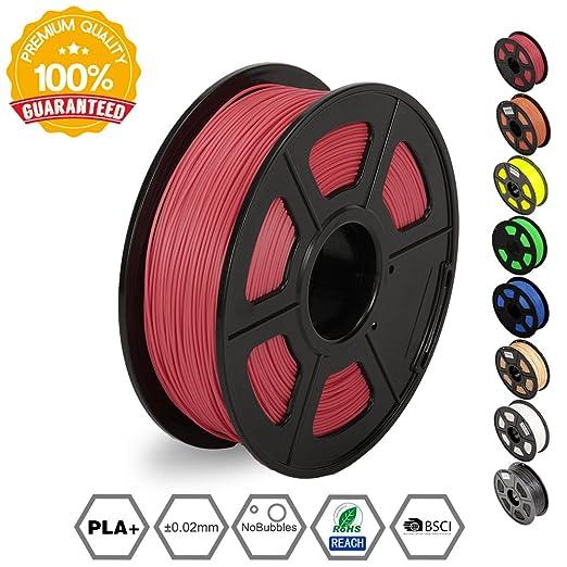 3 opinioni per 3D Printer Filament PLA Plus Red(more like pink),PLA Plus Filament 1.75 mm