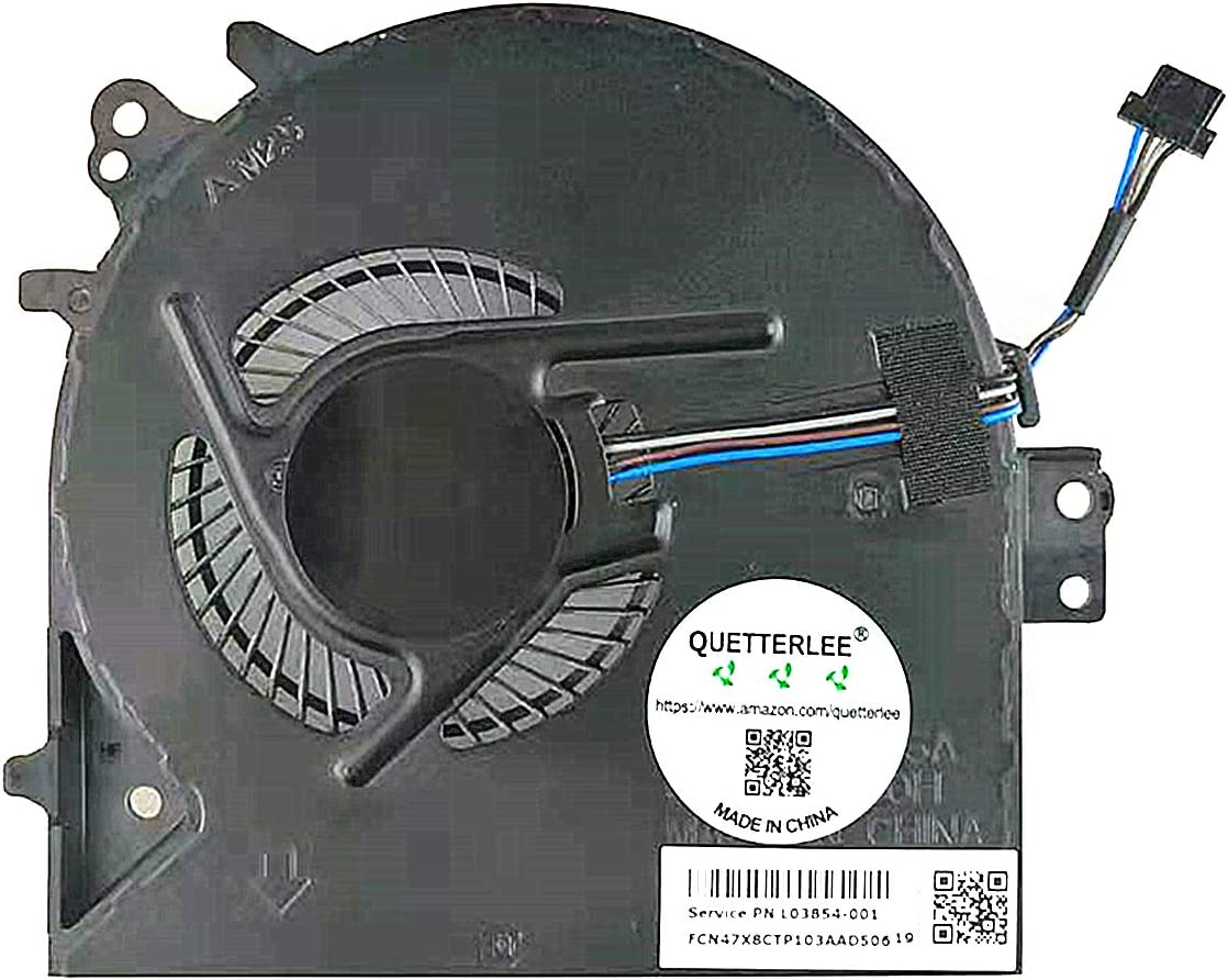QUETTERLEE Replacement New CPU Cooling Fan for HP ProBook 450 G5 455 G5 470 G5 450G5 455G5 470G5 Series L03854-001 0FJNC0000H Fan