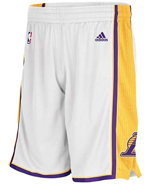 Los Angeles Lakers NBA adidas Youth Mesh Swingman Home Alternate White/Gold  Shorts (Youth