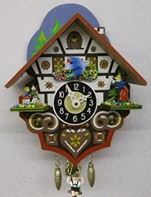 Quartz Chalet Clock with Gingerbread House
