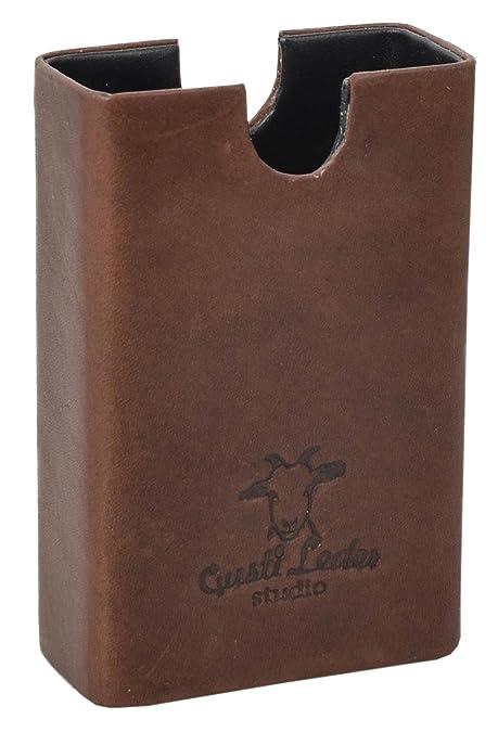b3e2bb3b451223 Gusti Leder Box für Zigarettenschachteln Leder Studio Hans Etui Dunkelbraun  2T18-22-9