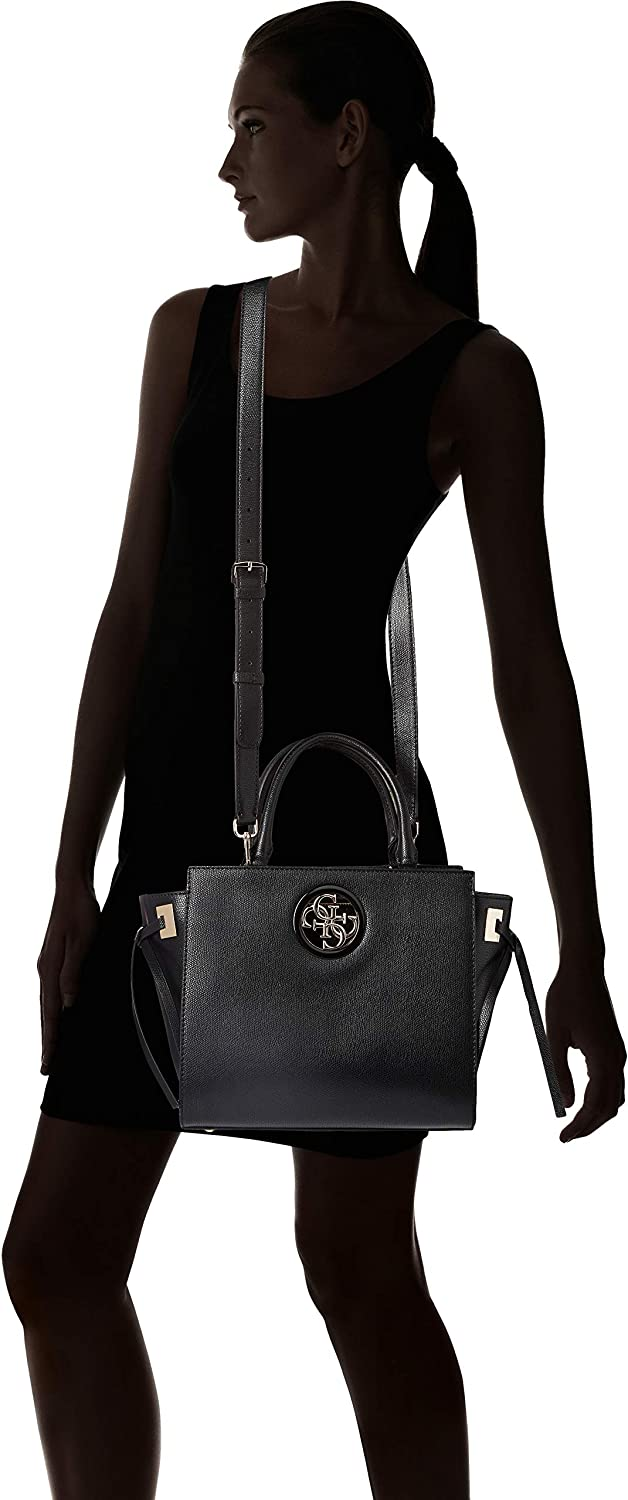 9af1a0ea0e Amazon.com: GUESS Open Road Society Satchel: Clothing