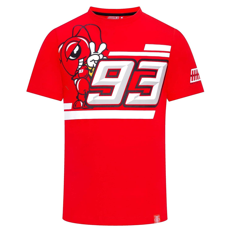 Camiseta para Hombre Color Rojo Marc Marquez 2019 MotoGP 93 100/% algod/ón dise/ño con el Logotipo de Ant 93