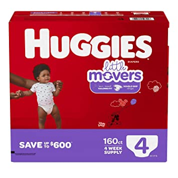 Huggies Little Movers Diapers Ebulk Size 4 198 Count Packaging May Vary