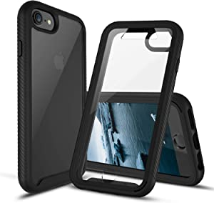 CBUS Full Body Phone Case with Built-in Screen Protector Cover Compatible with Apple iPhone SE (2020), iPhone 8/7/6s/6 –– Full Body iPhone Case, Drop Tested (Black)