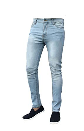 Pantalones Vaqueros de algodón para Hombre G-72 elásticos y Ajustados